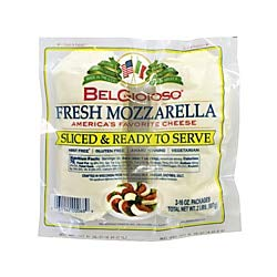 BelGioioso Pre-Sliced Mozzarella, 16 Oz, Pack Of 2