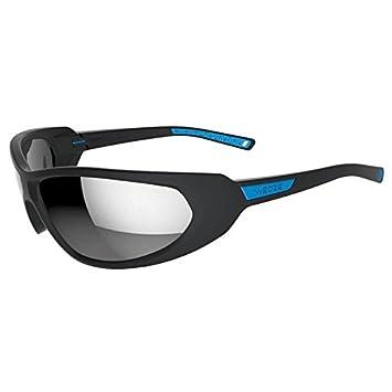 e805816af106 WEDZE SKIING 500 ADULT SKI SUNGLASSES CATEGORY 4 - BLACK   BLUE   Amazon.co.uk  Sports   Outdoors