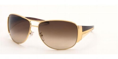 Amazon.com: Prada spr75g anteojos de sol café/goldandbrown 5 ...