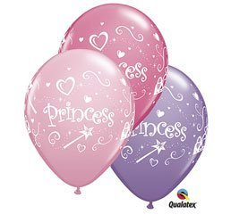 Princess Balloons Assorted Pink, Rose, Lavender Colors 11 Inch Latex 100CT by PartyCheap