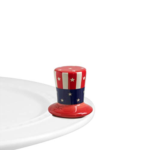 (Nora Fleming Hand-Painted Mini: Home of The Free (Uncle Same Hat) A53)