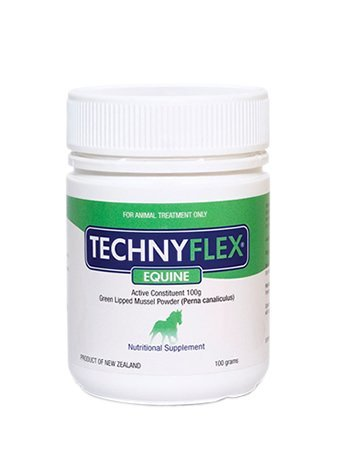 Technyflex Equine Premium Joint Supplement 100 Gram Reduces Pain, Swelling, Inflammation From Arthritis and DJD. 100% New Zealand Greenlipped Mussel With Omega 3's Improves Flexibility And Movement