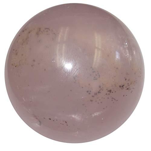 SatinCrystals Rose Quartz Sphere Crystal Healing Ball Feelings in My Heart Love Stone Star Madagascar Rainbow Rock Collectible C02 (2 inch)
