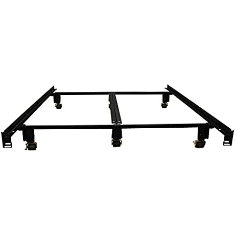 Milliard Super Strong Premium Metal Bed Frame Designed For Maximum Weight Capacity With Wheels Full