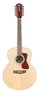 guild f 1512e 12 string acoustic electric guitar in natural musical instruments. Black Bedroom Furniture Sets. Home Design Ideas