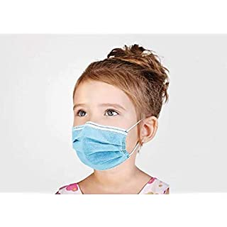 Kid's 3-PLY Disposable Face Mask, Perfect Fit for Small Face, Soft Skin Layer - 50 Pack