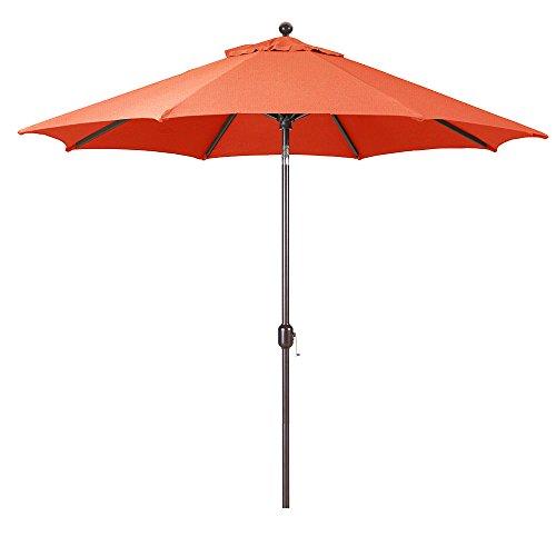 Sunbrella Brick - 9-Foot Galtech (Model 737) Deluxe Auto-Tilt Umbrella with Antique Bronze Frame and Sunbrella Fabric Brick (Includes Extended Frame Warrantee)