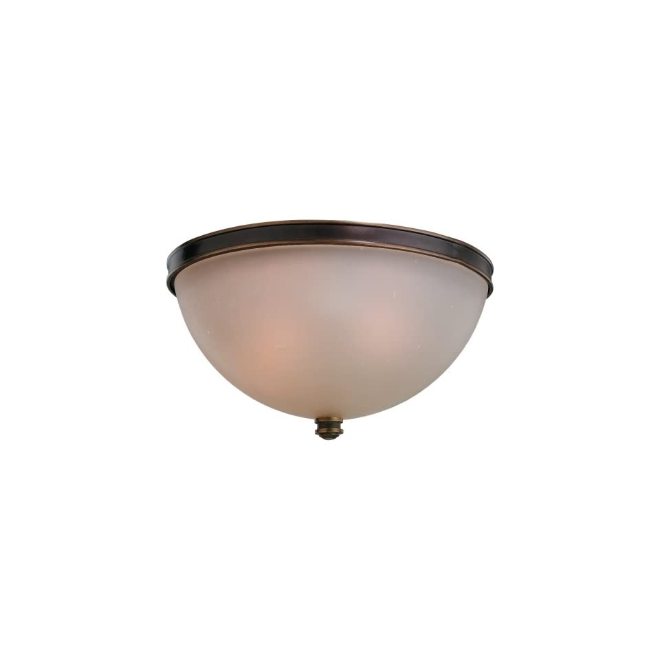 Sea Gull Lighting 75332 825 3 Light Warwick Ceiling Light, Smoky Parchment Glass Shade and Vintage Bronze
