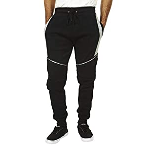 Encrypted Moto Men's Tapered Joggers with Pockets; Men's Athleisure Pants