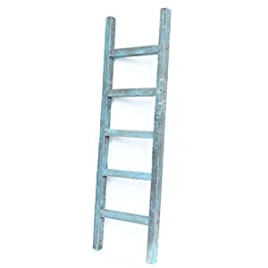 BarnwoodUSA Rustic Farmhouse Decorative Ladder - Our 4 ft Ladder can be Mounted Horizontally or Vertically and is…