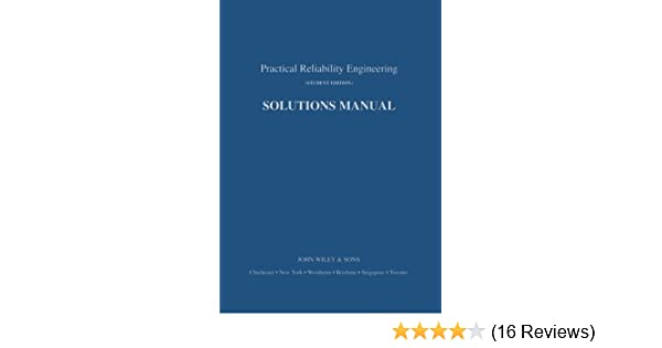 practical reliability engineering solutions manual patrick d t o rh amazon com practical reliability engineering 5th edition solutions manual Engineering Design Process