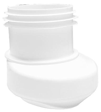 Raccordo per WC da pavimento con scarico verticale bianco 21678 4 Sanitop-Wingenroth
