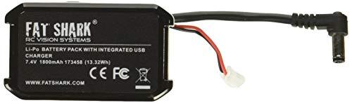 Fat Shark 1800Mah High Capacity Headset Battery with USB Charging & LED Power Indicator - FSV1815 Battery