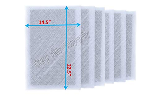 RAYAIR SUPPLY 16x25x2 Dynamic P2000 Air Cleaner Replacement Filter Pads 16×25 Refills White (6 Pack)