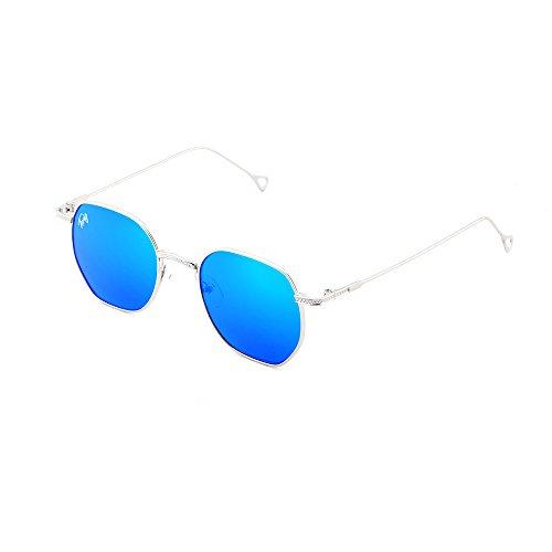 de mujer hombre Gafas sol espejo Plata BASQUIAT Azul TWIG p7wdP6w