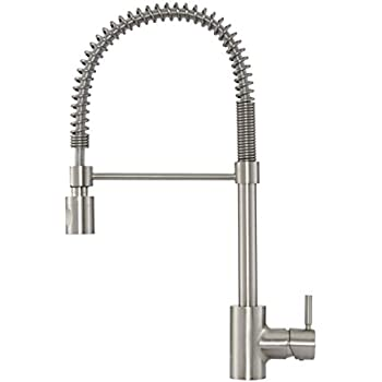 Danze DH451188SS The Foodie Single Handle Pre Rinse Kitchen Faucet,  Stainless Steel