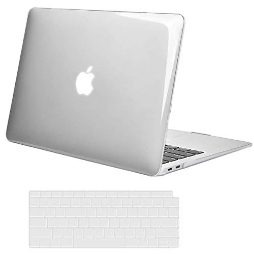 (MOSISO MacBook Air 13 Inch Case 2018 Release A1932 with Retina Display, Plastic Hard Case Shell & Keyboard Skin Cover Only Compatible Newest MacBook Air 13 with Touch ID, Crystal Clear)