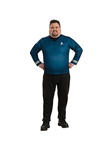 Rubie's Plus-Size Star Trek Into Darkness Deluxe Spock Shirt with Emblem, Blue/Black, Plus Costume ()