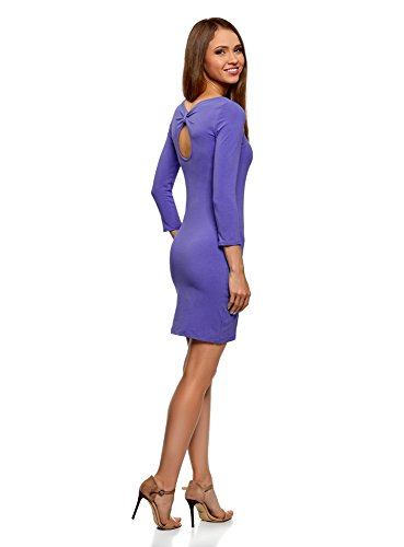 Robe Violet avec oodji Ultra Femme 7500n au Encolure d'eau Moulante Dos Goutte SvTgEqw