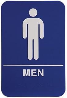 men restroom sign bluewhite ada - Mens Bathroom