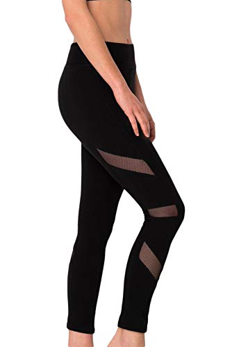 Suzette Collection Ultra Yummy Soft Mesh Leggings for Women Black from Suzette Collection