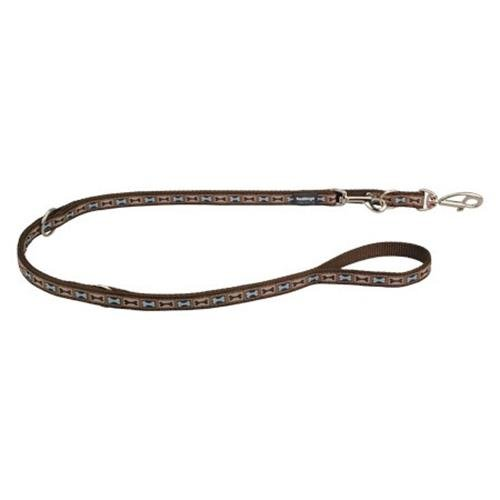 Red Dingo Bone Yard Brown multi-purpose dog leash 6,5ft Large