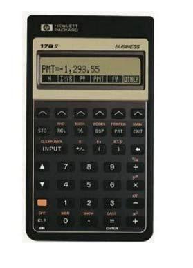 HP 17BII+ Business Financial Calculator, Black (Financial Calculator Hp17bii+)