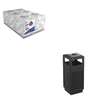 KITKIM21271SAF9474BL - Value Kit - Safco Canmeleon Ash/Trash Receptacle (SAF9474BL) and KIMBERLY CLARK KLEENEX White Facial Tissue (KIM21271)