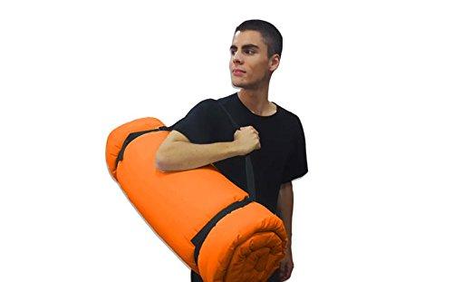 200x80x3 cm Futon portable Orange