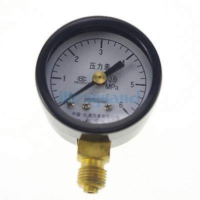 Ochoos 0-6Mpa Measurement Range Y-40 Radial Mount M10x1 Air Compressor Pressure Gauge Dial Diam 40mm Pneumatic Parts