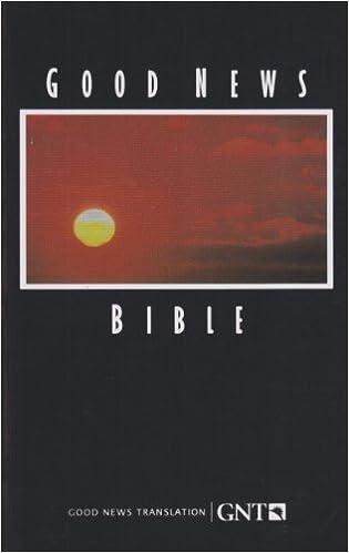 Good News Bible American Bible Society 0001585160776 Amazon