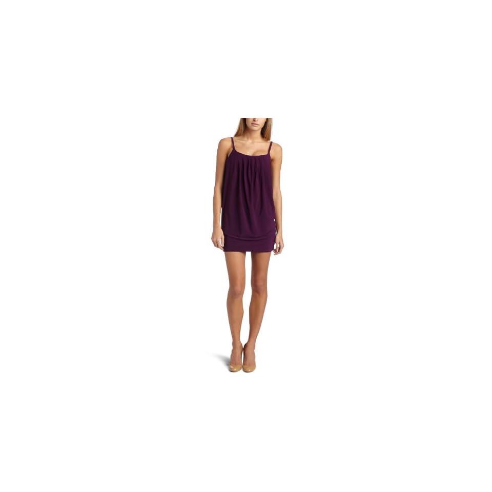 Wrapper Womens Pleated Tuck Dress,Purple,Medium