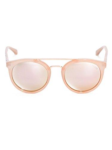 Guess Double pont autour des lunettes de soleil en noir brillant GU7387 01B  52 Pink Gold ... 774ec7e457ce