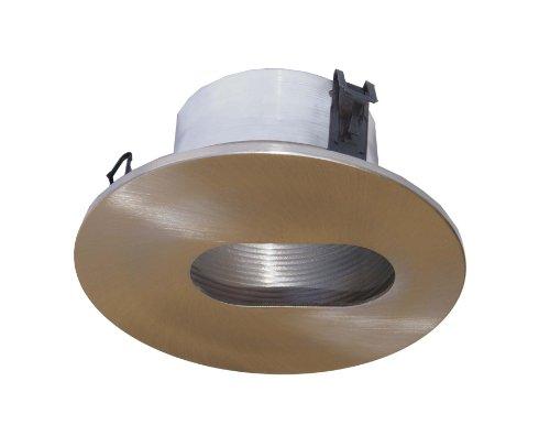 4 Inches Line Voltage Slot Baffle Trim for Recessed Light-(Satin Nickel)- Fit - Pinhole Trim Voltage Line