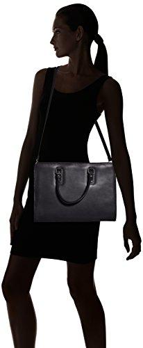manici modello Pelle da in cartella a 100 donna Nero Italy Vera con Borsa Made italiano fFzYXwxfq