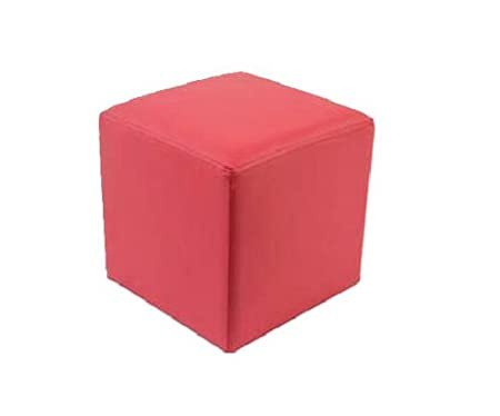 Seating Cube Seat Puff Chair (Light Red)
