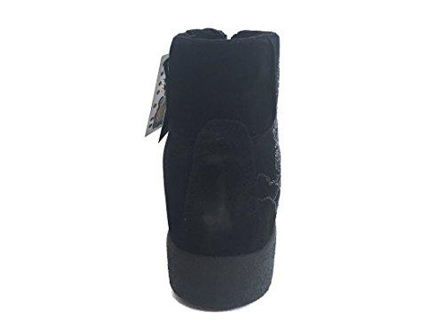 ENVAL SOFT Damenschuhe Turnschuhe hohen inneren Keil 89960/00 Black