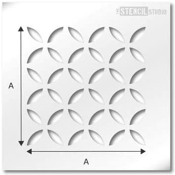 Single Tile Ideal for tile and other interior d/écor makeovers Calcot Tile Stencil Size 6 inch just add paint Floor wall stencil The Stencil Studio Fits standard tile sizes 10625-6