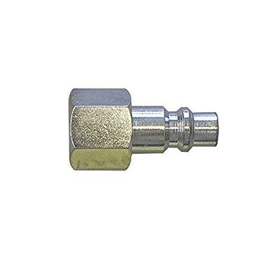 "Interstate Pneumatics CPH680 3/8"" Industrial Coupler Plug 1/2"" Female NPT (Steel)"