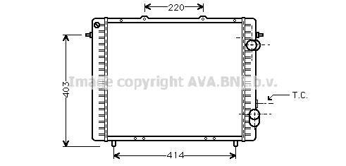 Ava Quality Cooling rta2159 Radiador, refrigeració n del motor refrigeración del motor PRASCO
