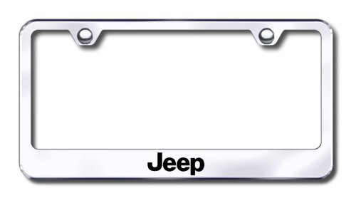 amazoncom jeep laser etched stainless steel license plate frame automotive