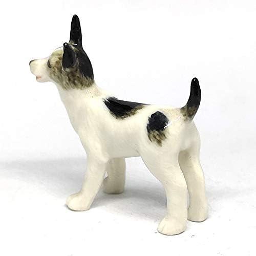 ZOOCRAFT Cute Toy Terrier Dog Figurine Craft Miniatures Collectible Ceramic Animals