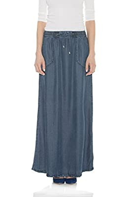 Esteez Women's Maxi Jean Skirt Tencel Denim - Atlanta