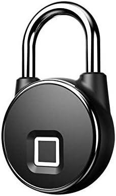 GXWLWXMS 指紋南京錠、USB電子南京錠付き指紋ロックスマートロック、IP65は家のドアスーツケースバックパックジムバイクに適した防水盗難防止キーレス南京錠