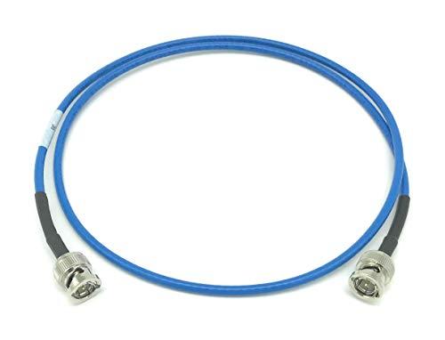 6' Bnc Coaxial Rg59 Cable - AV-Cables 12G 4K HD SDI BNC - BNC Cable Belden 4855R Mini RG59 (6ft, Blue)