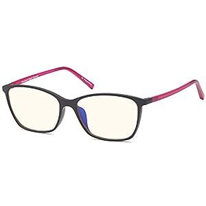 Trust Optics Premium Optical Quality Glasses Frame in Modern Cateye RX Grooved Prescription Ready Rx-able Eyeglasses w Anti UV400 Anti Glare in Black Rose Color