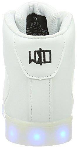 Led Blanco wize hi ope amp; White 01 Unisex Zapatilla Baja Adulto r8F8Ew