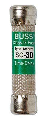(Bussmann BP/SC-30 30 Amp Time-Delay Class G Melamine Tube, 600V UL Listed (Pack of 2))