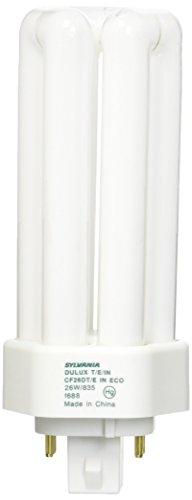 Sylvania 20881 Compact Fluorescent 4 Pin Triple Tube 3500K, 26-watt (Compact Plug Fluorescent 26w)