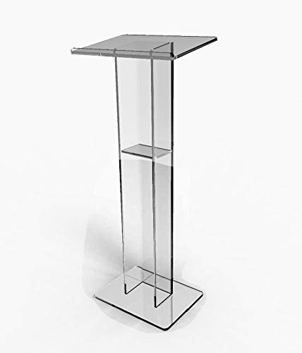 FixtureDisplays Acrylic Podium Plexiglass Pulpit School Church Lectern 15198-NF by FixtureDisplays